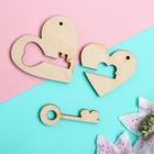 "Mini kit ""love No. 1"" 5 cm plywood, 3 mm"
