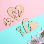 "Mini-set ""With love № 6"", 2.5-5 cm, plywood 3 mm"