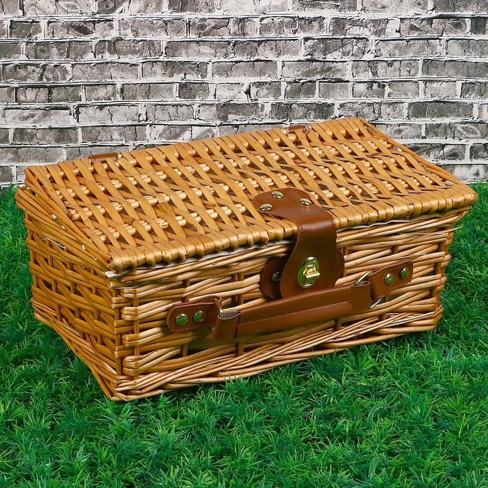 Коробка «Сундучок», для хранения вещей, 33х21х12 см, лоза