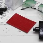 Футляр для карточки, крокодил, цвет красный