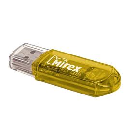 Флешка Mirex ELF YELLOW, 4 Гб, USB2.0, чт до 25 Мб/с, зап до 15 Мб/с, желтая