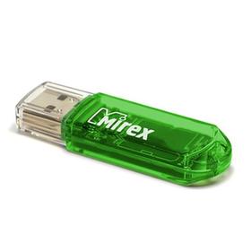 Флешка Mirex ELF GREEN, 16 ГБ, чт до 25 Мб/с, зап до 15 Мб/с, зеленая
