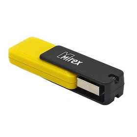 Флешка Mirex CITY YELLOW, 16 Гб, USB2.0, чт до 25 Мб/с, зап до 15 Мб/с, желтая
