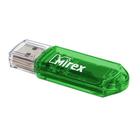 Флешка USB2.0 Mirex ELF GREEN, 32 Гб, чт до 25 Мб/с, зап до 15 Мб/с, зеленая
