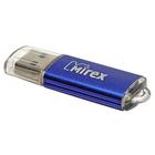 Флешка USB2.0 Mirex UNIT AQUA, 32 Гб, чт до 25 Мб/с, зап до 15 Мб/с, синяя