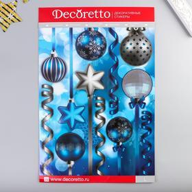 """Наклейки Decoretto """"Синие шарики"""" 35х50 см"""