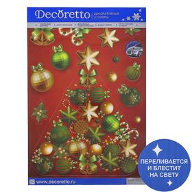 Наклейки Decoretto 'Елка на красном фоне' 35х50 см Ош