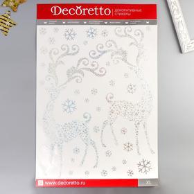 """Наклейки Decoretto """"Сверкающие олени"""" 50х70 см"""
