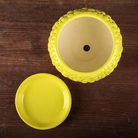 """Горшок для цветов """"Пузыри"""" лимонный цвет, 1,4 л - фото 1693425"""