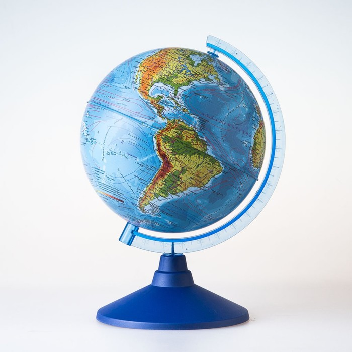 Глобус физико-политический «Классик Евро», диаметр 210 мм, с подсветкой от батареек