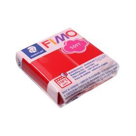 Пластика - полимерная глина FIMO soft, 57 г, рождественский красный