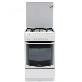 Плита комбинированная De Luxe  5040.21, 4 газ. конф., 43 л, эл. духовка, белая