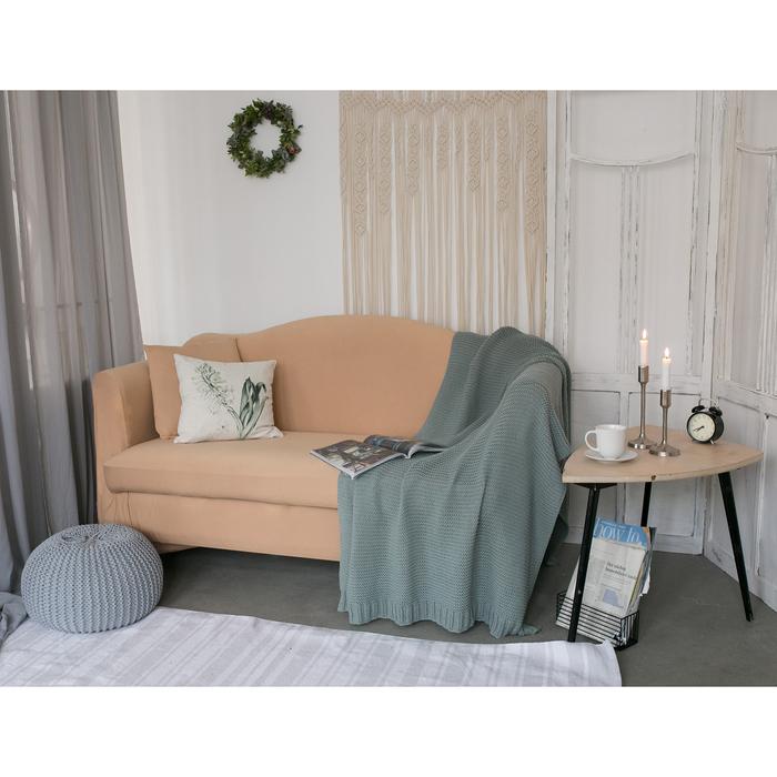 Чехол для мягкой мебели Collorista,2-х местный диван,наволочка 40*40 см в ПОДАРОК,бежевый