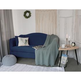 Чехол для мягкой мебели Collorista,2-х местный диван,наволочка 40*40 см в ПОДАРОК,тёмн.синий 24809