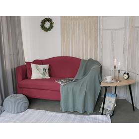Чехол для мягкой мебели Collorista,2-х местный диван,наволочка 40*40 см в ПОДАРОК,бордовый