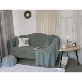 Чехол для мягкой мебели Collorista,3-х местный диван,наволочка 40*40 см в ПОДАРОК,серый