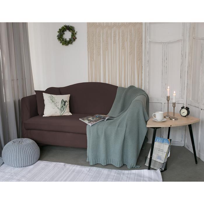 Чехол для мягкой мебели Collorista,3-х местный диван,наволочка 40*40 см в ПОДАРОК,шоколадный 24809