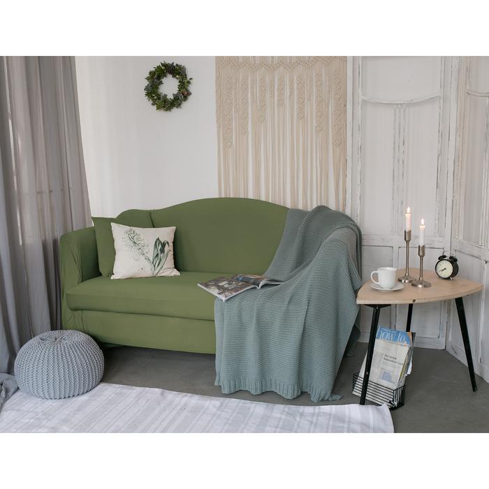 Чехол для мягкой мебели Collorista,4-х местный диван,наволочка 40*40 см в ПОДАРОК,оливковый 248099