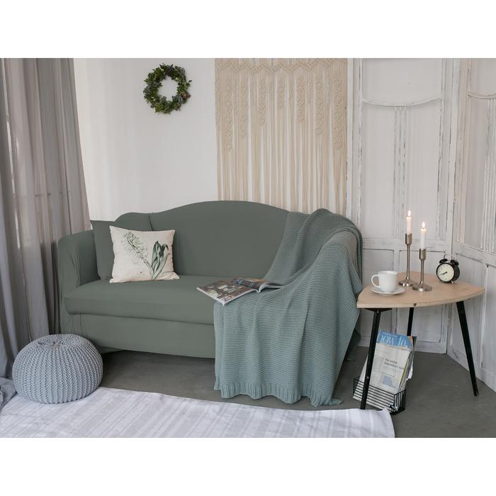 Чехол для мягкой мебели Collorista,4-х местный диван,наволочка 40*40 см в ПОДАРОК,серый