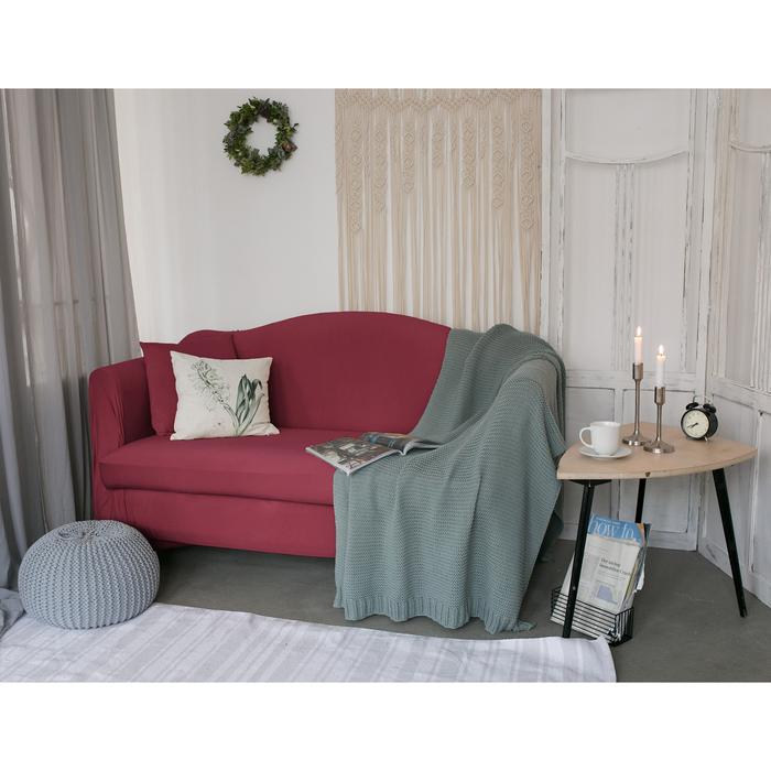Чехол для мягкой мебели Collorista,4-х местный диван,наволочка 40*40 см в ПОДАРОК,бордовый