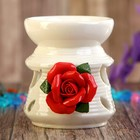 "Аромалампа керамика ""Роза"" МИКС 9х7,5х7,5 см"