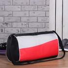 Сумка спортивная, отдел на молнии, регулируемый ремень, цвет красный/чёрный