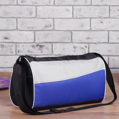 Сумка спортивная, отдел на молнии, регулируемый ремень, цвет синий чёрный 99a78238c76