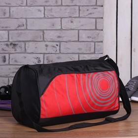Сумка спортивная, 1 отдел на молнии, бок/карман сетка, регулируемый ремень, цвет красный Ош