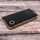 """Purse men's """"Golden circle"""", color black, faux leather, zippered"""