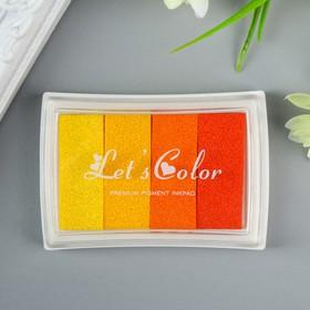"Stamp ink pad 4 color ""Yellow-orange palette"" 7,8x5,5x1,8 cm"