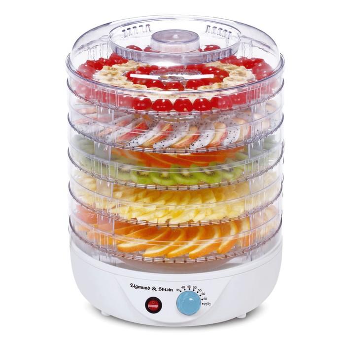 Сушилка для овощей и фруктов Zigmund & Shtain ZFD-400, 500 Вт, 5 ярусов, белая
