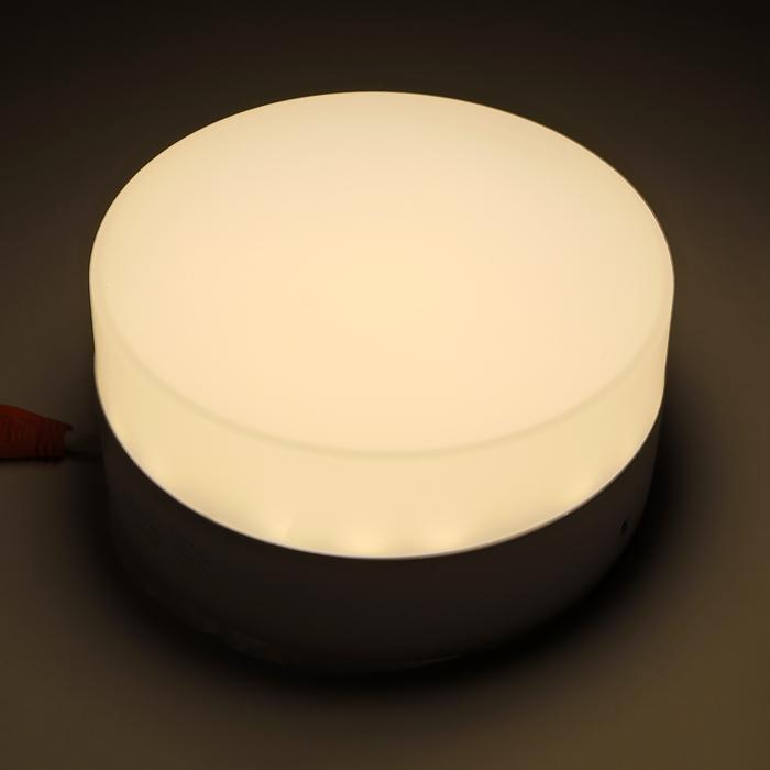 Накладной светодиодный светильник Luazon, круглый, 115х55 мм, 12 Вт, 1100 Лм, 4000 К