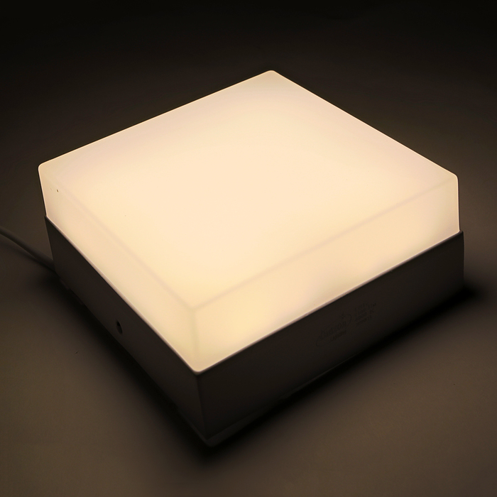 Накладной светодиодный светильник Luazon, квадратный, 120х120х55 мм, 12 Вт, 1100 Лм, 4000 К