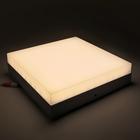Накладной светодиодный светильник Luazon, квадратный, 220х220х55 мм, 24 Вт, 2250 Лм, 4000 К