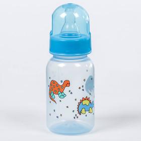 Бутылочка для кормления, 125 мл, от 0 мес., цвет голубой МИКС