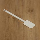Шпатель силиконовый 41×7,2 см, ручка белая - фото 308038958
