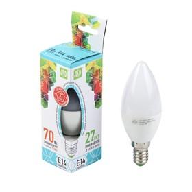 Лампа светодиодная ASD, Е14, 7.5 Вт, 230 В, 4000 К, 675 Лм, 'свеча' Ош