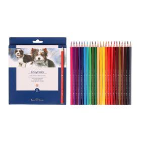 Карандаши 24 цвета BrunoVisconti Easycolor, трёхгранные