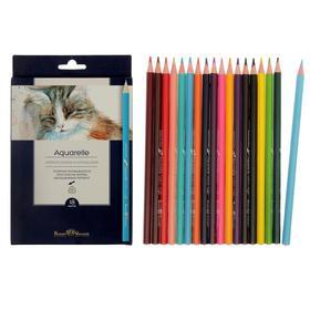 Карандаши акварельные 18 цветов BrunoVisconti Aquarelle, трёхгранные