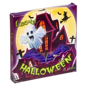 """Набор плавающих свечей 4 шт. """"Halloween"""",  7.4 х 7.4 см"""