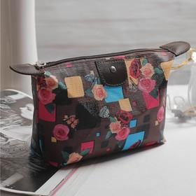 Косметичка-сумочка, отдел на молнии, цвет коричневый в Донецке