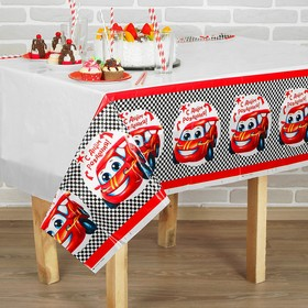 """Tablecloth """"Be first!"""" 182 x 137 cm"""