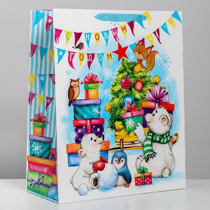 Пакет ламинированный XL «С Новым годом!», 40 × 49 × 19 см