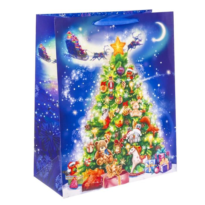 Пакет ламинированный XL «Новогоднее волшебство», 40 × 49 × 19 см
