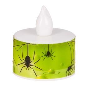 "Свеча-светильник ""Хэллоуин"" , пауки,  3 х 3.5 см"