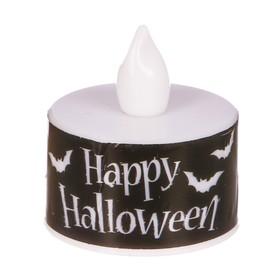 """Свеча-светильник """"Happy Halloween"""" , 3 х 3.5 см"""