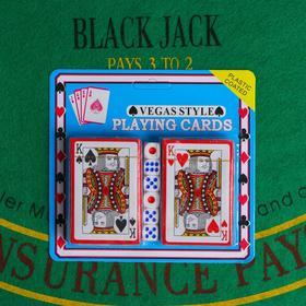 Покер, набор для игры (карты 2 колоды, кубики игральные 6 шт) микс