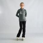 Водолазка для фигурного катания «Серебряный серфер», размер 38-40, цвет серый