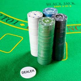 Набор фишек с номиналом для покера, 200 шт., в блистере