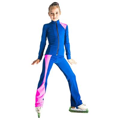 Брюки для фигурного катания «Ноктюрн», размер 38-40, цвет васильковый/розовый